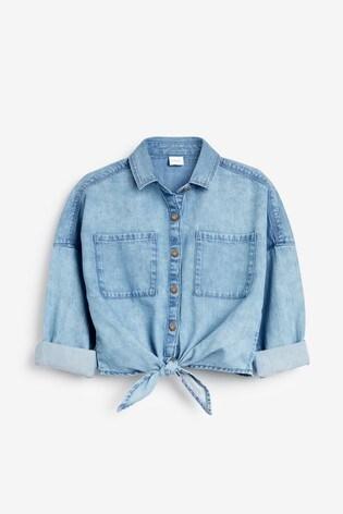 Denim Tie Front Shirt (3-16yrs)