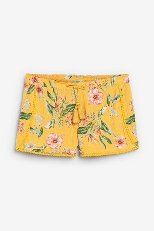 Print Trim Detail Shorts (3-16yrs)