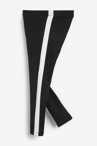 Black Side Stripe Leggings (3-16yrs)