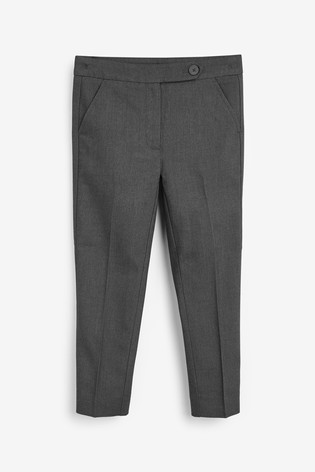 Grey Plain Front Trousers (3-16yrs)