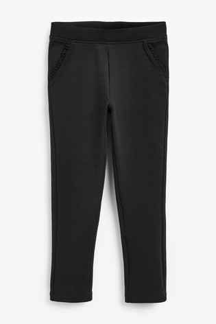 Black Frill Detail Trousers (3-16yrs)