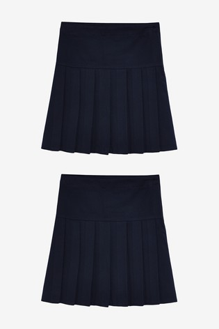 Navy 2 Pack Pleat Skirts (3-16yrs)