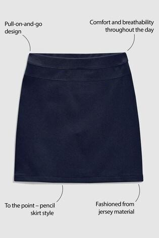 Navy Jersey Pencil Skirt (3-16yrs)