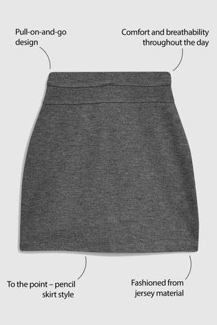 Grey Jersey Pencil Skirt (3-16yrs)