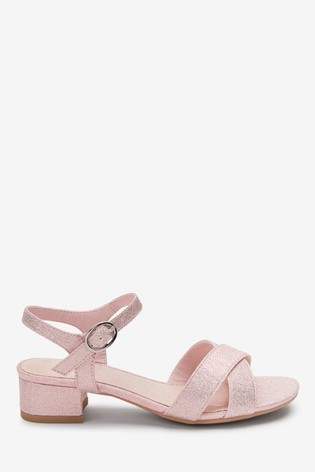 Pink Glitter Heel Sandals (Older)
