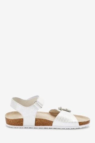 White Corkbed Sandals (Older)