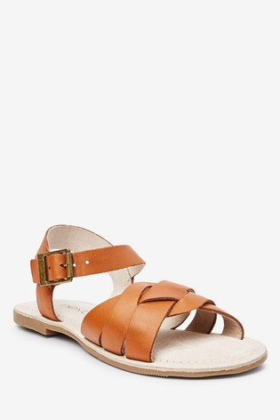 Tan Woven Leather Sandals (Older)