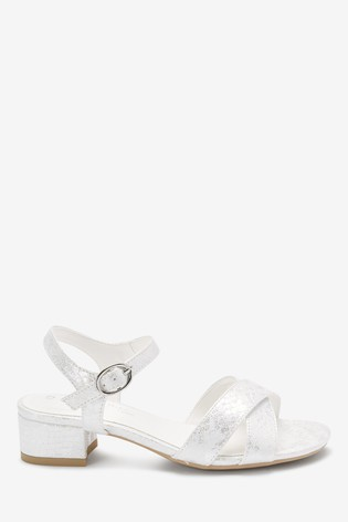 White/Silver Heel Sandals (Older)