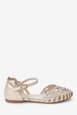 Gold Heatseal Scalloped Shoes (Older)