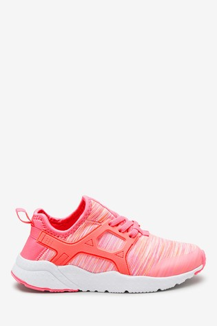 Pink Elastic Lace Trainers (Older)
