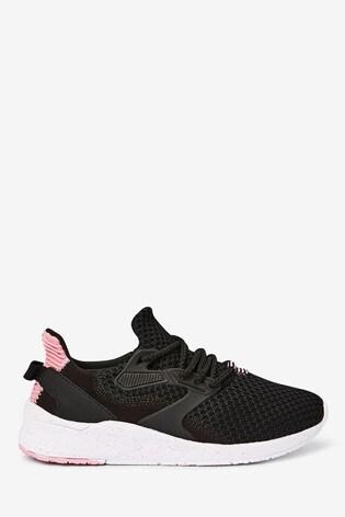 Black/Pink Runner Trainers (Older)