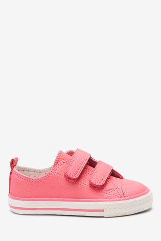 Hot Pink Touch Fastening Trainers (Younger)