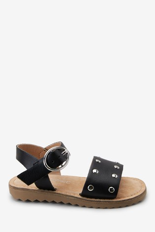 Black Buckle Sandals (Younger)