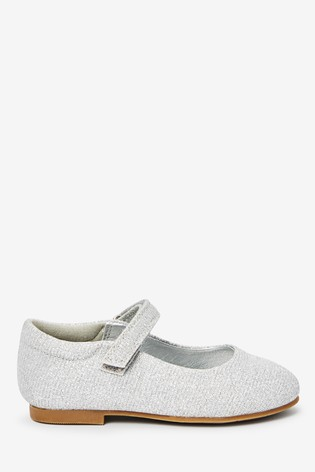 Silver Glitter Mary Jane Shoes (Younger
