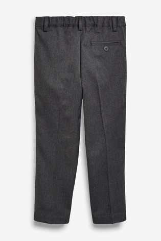 Grey Plus Waist Pleat Front Trousers (3-16yrs)