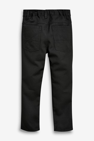 Black Slim Waist Jean Trousers (3-16yrs)