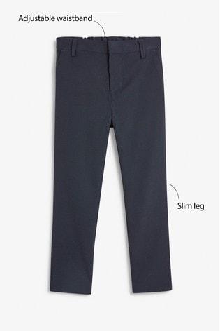 Navy Regular Waist Formal Stretch Skinny Trousers (3-17yrs)