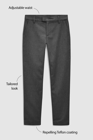 Grey Regular Waist Formal Slim Leg Trousers (3-16yrs)