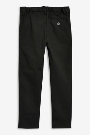 Black Regular Waist Formal Stretch Skinny Trousers (3-17yrs)