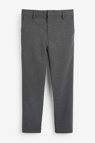 Grey Plus Waist Formal Stretch Skinny Trousers (3-17yrs)