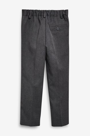 Grey Regular Waist Pleat Front Trousers (3-16yrs)