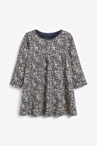 Navy Ditsy Dress (3mths-7yrs)