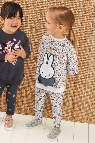 Blue/Ecru Miffy Printed Sweat And Leggings Set (3mths-7yrs)