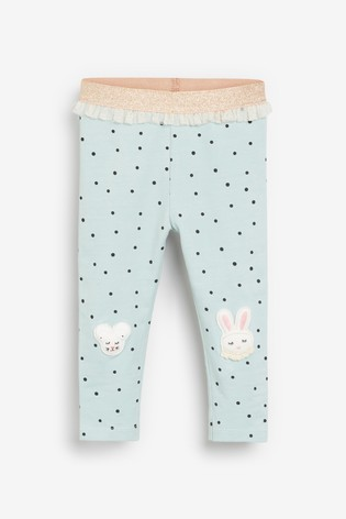 Mint Embroidered Leggings (3mths-7yrs)
