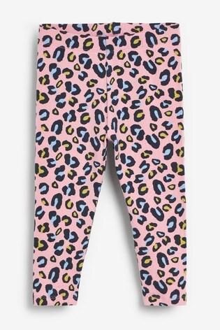 Pale Pink Print Leggings (3mths-7yrs)