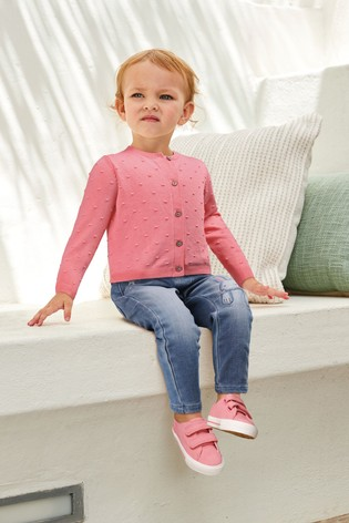 Pink Bobble Cardigan (3mths-7yrs)