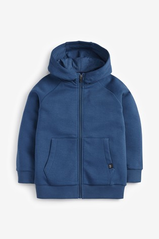 Mid Blue Zip Through Hoody (3-16yrs)