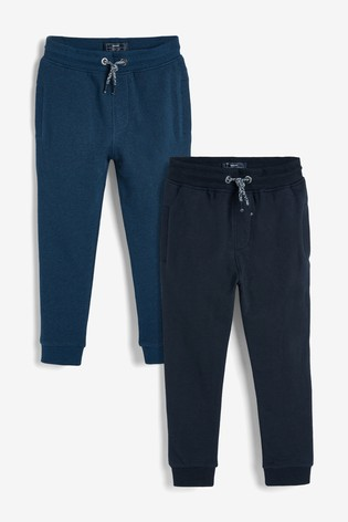 Blue/Navy Skinny Fit 2 Pack Joggers (3-16yrs)