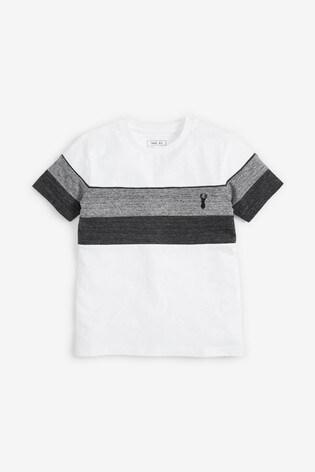 Monochrome Textured Colourblock T-Shirt (3-16yrs)