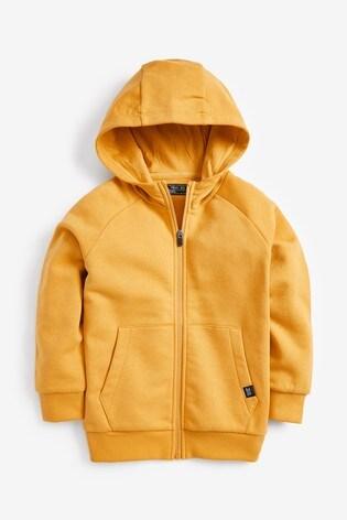 Yellow Zip Through Hoody (3-16yrs)