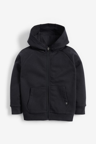Navy Zip Through Hoody (3-16yrs)