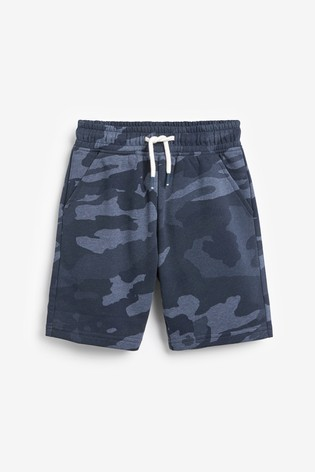 Blue Camo Jersey Shorts (3-16yrs)