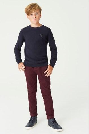 Plum Slim Fit Stretch Chino Trousers (3-16yrs)