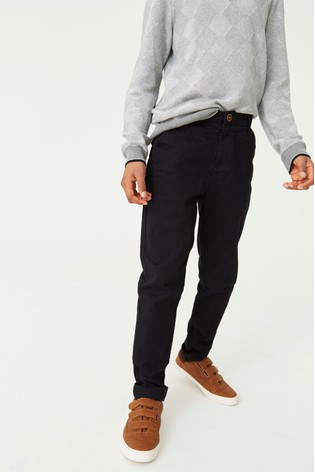 Black Slim Fit Stretch Chino Trousers (3-16yrs)
