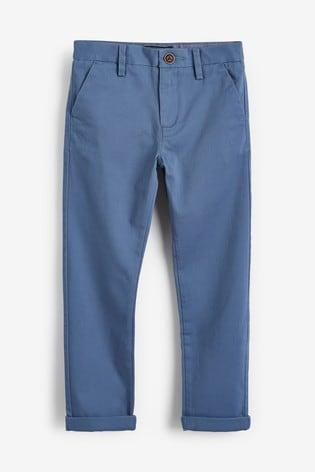 Blue Slim Fit Stretch Chino Trousers (3-16yrs)