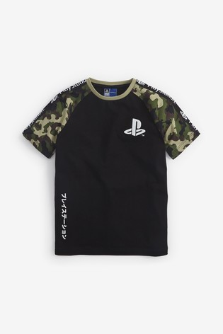 Camouflage PlayStation™ Raglan T-Shirt (3-16yrs)