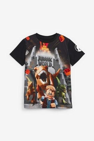 Black LEGO® Jurassic World T-Shirt (4-12yrs)