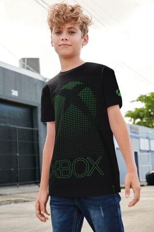 Black Xbox Graphic T-Shirt (3-16yrs)