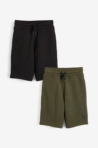 Black/Green 2 Pack Shorts (3-16yrs)