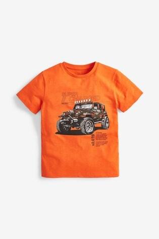 Orange Camo Graphic T-Shirt (3-14yrs)