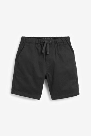 Black Pull-On Shorts (3-16yrs)