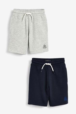 Navy/Grey 2 Pack Shorts (3-16yrs)