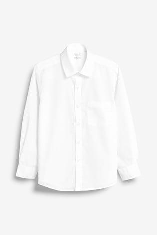 White 2 Pack Long Sleeve Shirts (3-17yrs)