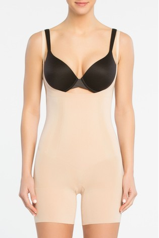 SPANX® Firm Control Oncore Open Bust Mid Thigh Bodysuit