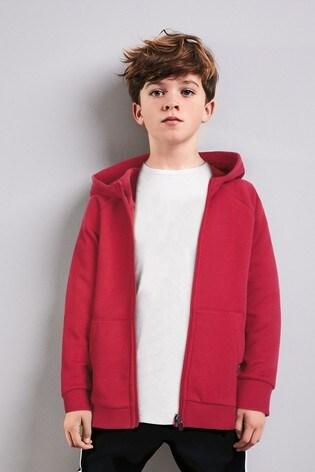 Red Zip Through Hoody (3-16yrs)