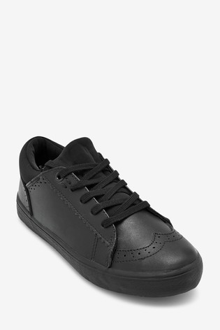 Black Leather Lace-Up Brogues (Older)